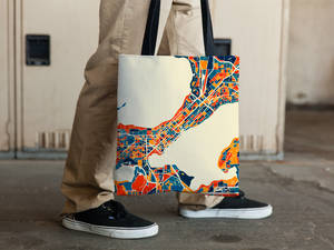 Madison Map Tote Bag - Wisconsin Map Tote Bag 15x15
