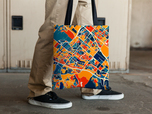 Irvine Map Tote Bag - California Map Tote Bag 15x15