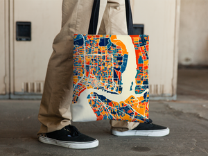 Jacksonville Map Tote Bag - Florida Map Tote Bag 15x15