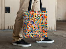 Denver Map Tote Bag - Colorado Map Tote Bag 15x15