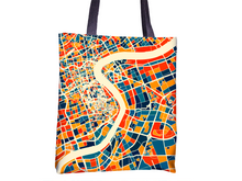Shanghai Map Tote Bag - China Map Tote Bag 15x15