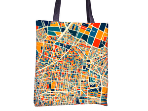 Mexico City Map Tote Bag - Mexico Map Tote Bag 15x15