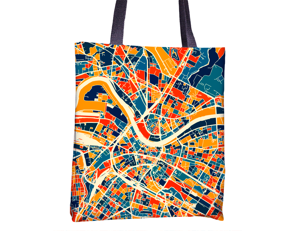 Dresden Map Tote Bag - Germany Map Tote Bag 15x15