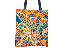 San Jose Map Tote Bag - Sj Map Tote Bag 15x15