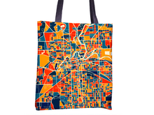 Fort Wayne Map Tote Bag - Indiana Map Tote Bag 15x15