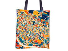 Valencia Map Tote Bag - Spain Map Tote Bag 15x15