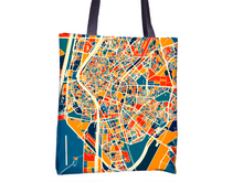 Sevilla Map Tote Bag - Spain Map Tote Bag 15x15
