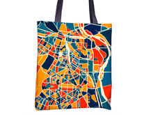 New Delhi Map Tote Bag - India Map Tote Bag 15x15