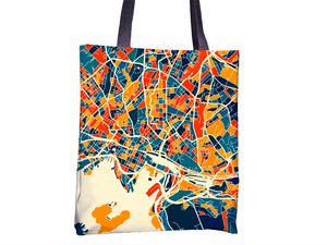 Oslo Map Tote Bag - Norway Map Tote Bag 15x15
