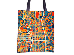 Wichita Map Tote Bag - Kansas Map Tote Bag 15x15