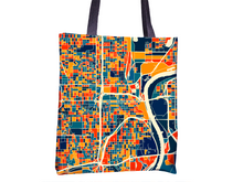 Omaha Map Tote Bag - Nebraska Map Tote Bag 15x15