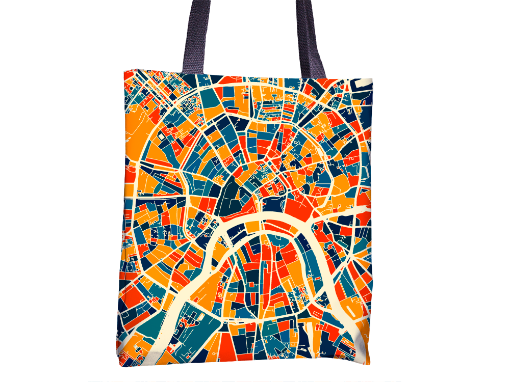 Moscow Map Tote Bag - Russia Map Tote Bag 15x15