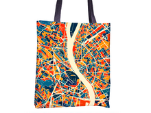 Budapest Map Tote Bag - Hungary Map Tote Bag 15x15