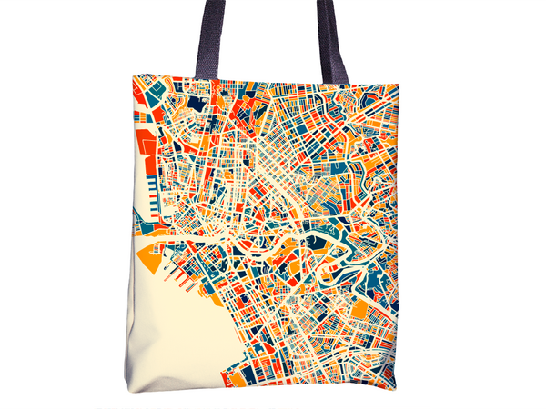 Manila Map Tote Bag - Philippines Map Tote Bag 15x15