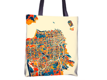 San Francisco Map Tote Bag - California Map Tote Bag 15x15