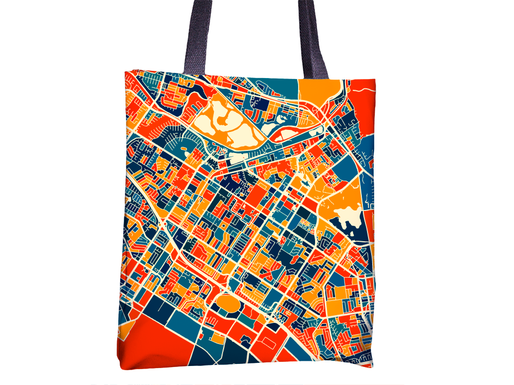 Fremont Map Tote Bag - California Map Tote Bag 15x15