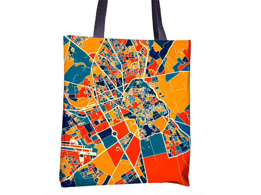 Marrakesh Map Tote Bag - Morocco Map Tote Bag 15x15