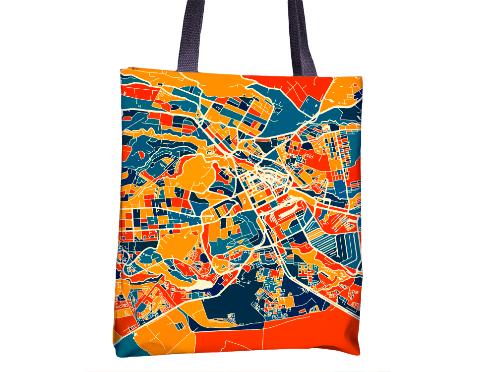 Nairobi Map Tote Bag - Kenya Map Tote Bag 15x15