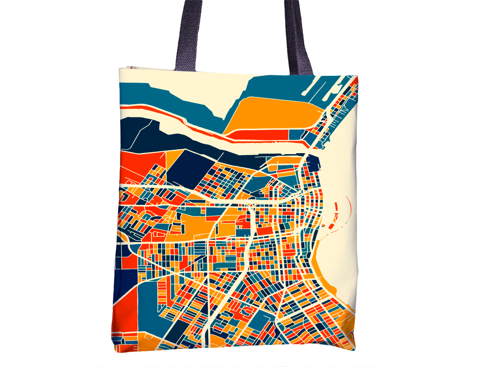 Corpus Christi Map Tote Bag - Texas Map Map Tote Bag 15x15