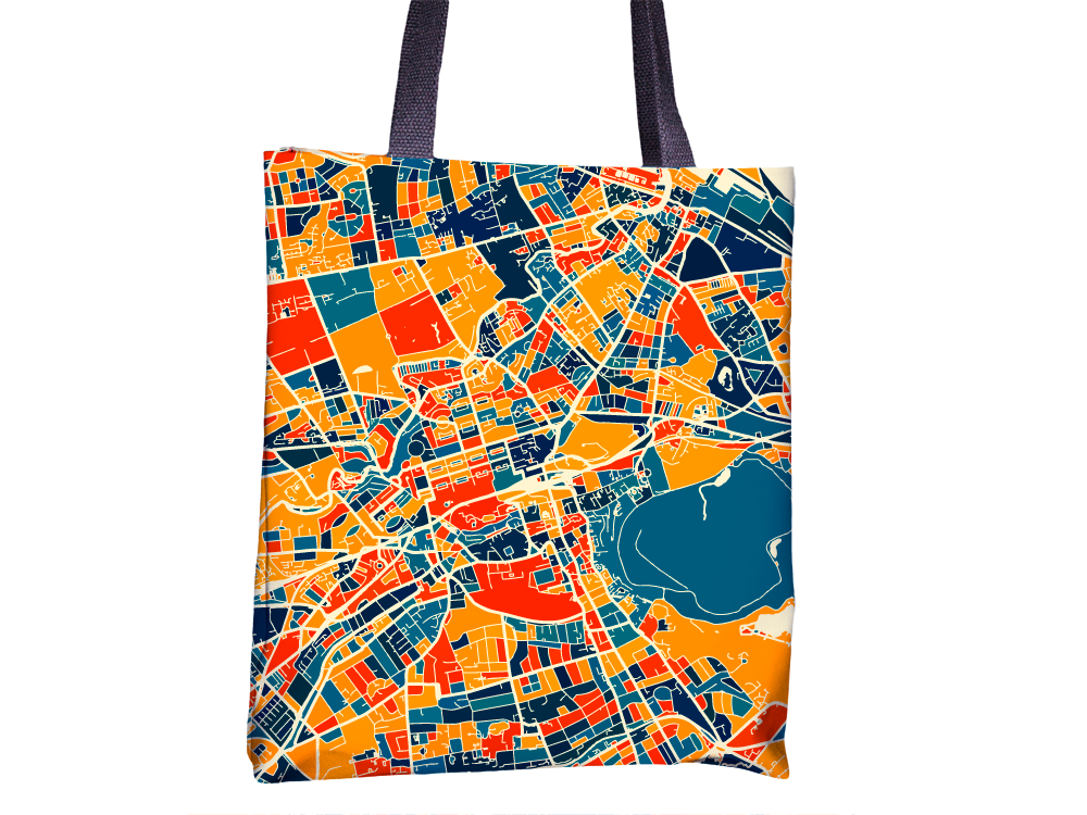 Edinburgh Map Tote Bag - Scotland Map Tote Bag 15x15