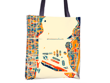 Miami Map Tote Bag - Florida Map Tote Bag 15x15