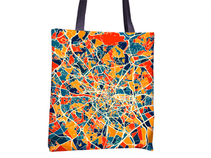 Montpellier Map Tote Bag - France Map Tote Bag 15x15