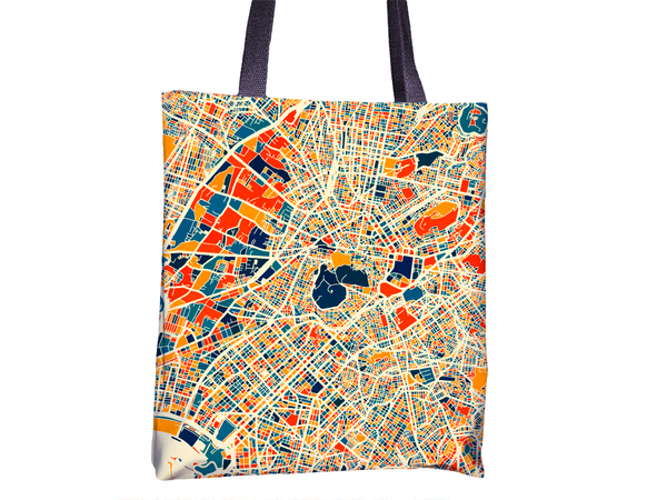 Athens Map Tote Bag - Greece Map Tote Bag 15x15