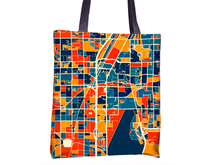 Las Vegas Map Tote Bag - Lv Map Tote Bag 15x15