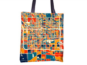 Phoenix Map Tote Bag - Arizona Map Tote Bag 15x15