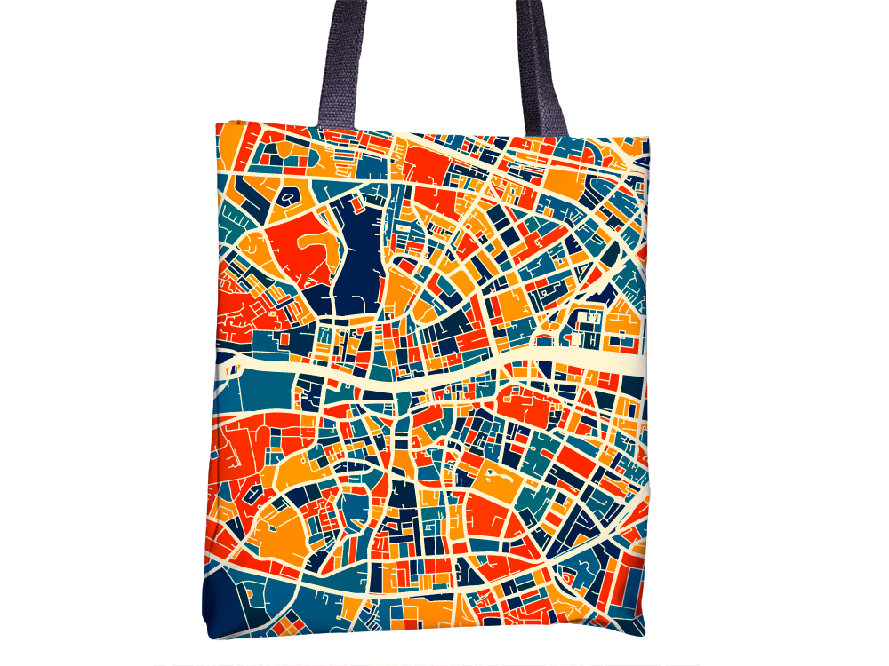 Dublin Map Tote Bag - Ireland Map Tote Bag 15x15