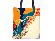 Monaco Map Tote Bag - Montecarlo Map Tote Bag 15x15