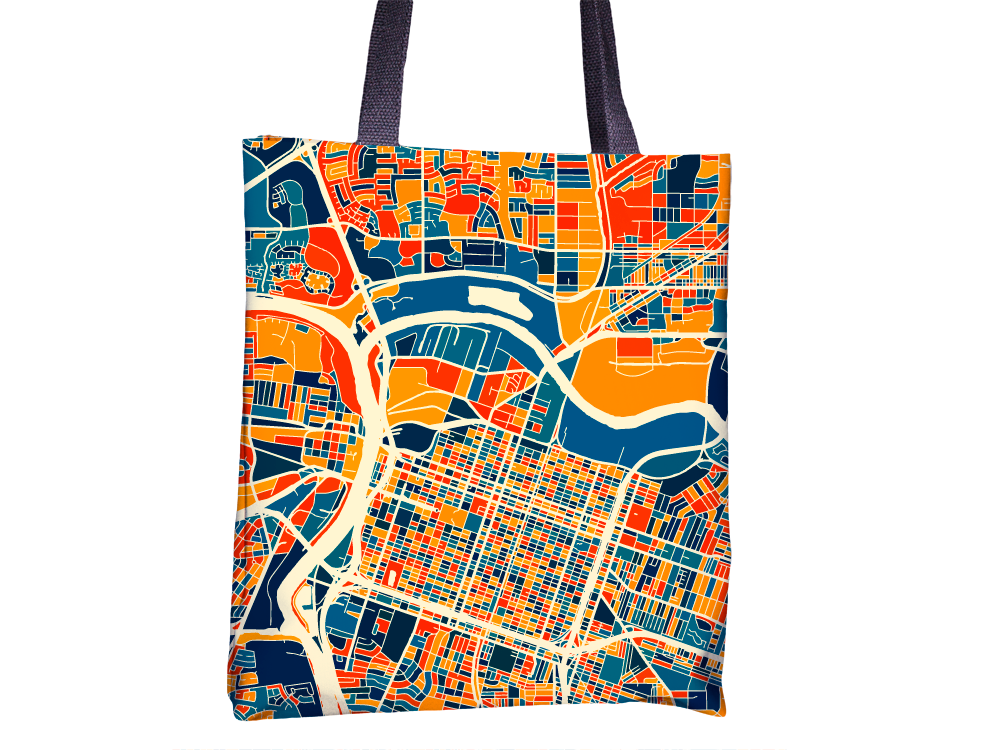Sacramento Map Tote Bag - Ca Map Tote Bag 15x15