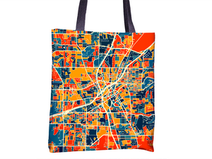 Huntsville Map Tote Bag - Alabama Map Tote Bag 15x15