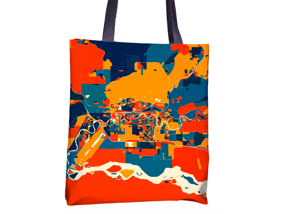 Fairbanks Map Tote Bag - Alaska Map Tote Bag 15x15