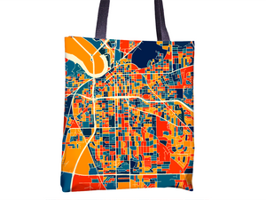 Montgomery Map Tote Bag - Alabama Map Tote Bag 15x15