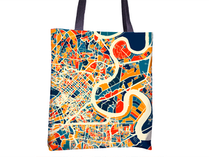 Ho Chi Minh Map Tote Bag - Vietnam Map Tote Bag 15x15