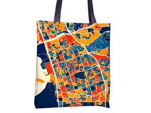 Chula Vista Map Tote Bag - California Map Tote Bag 15x15