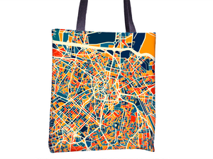 Sao Paulo Map Tote Bag - Brazil Map Tote Bag 15x15