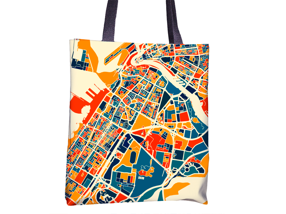 Dubai Map Tote Bag - United Arab Emirates Map Tote Bag 15x15