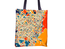 Bogota Map Tote Bag - Columbia Map Tote Bag 15x15