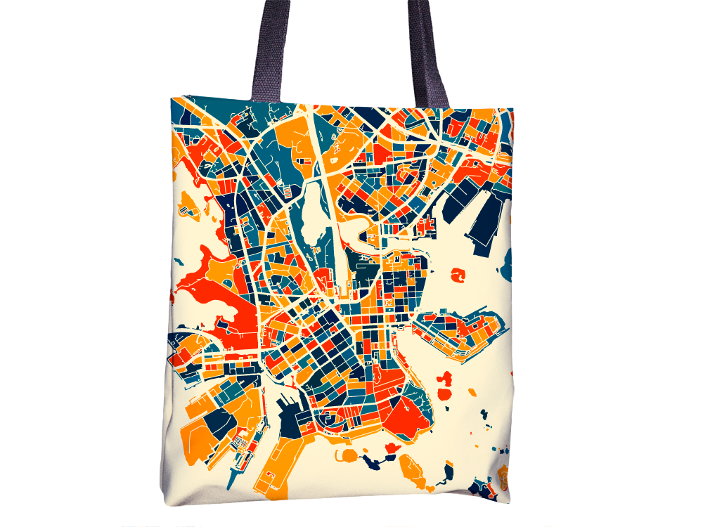 Helsinki Map Tote Bag - Finland Map Tote Bag 15x15