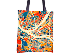 Pittsburgh Map Tote Bag - Pennsylvania Map Tote Bag 15x15