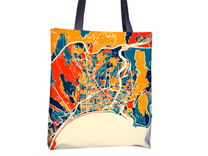 Nice Map Tote Bag - France Map Tote Bag 15x15