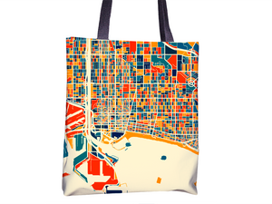 Long Beach Map Tote Bag - California Map Tote Bag 15x15