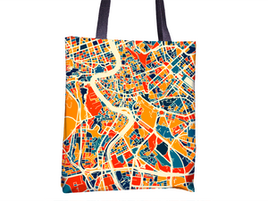 Roma Map Tote Bag - Italy Map Tote Bag 15x15