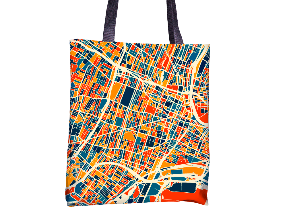 Newark Map Tote Bag - New Jersey Map Tote Bag 15x15
