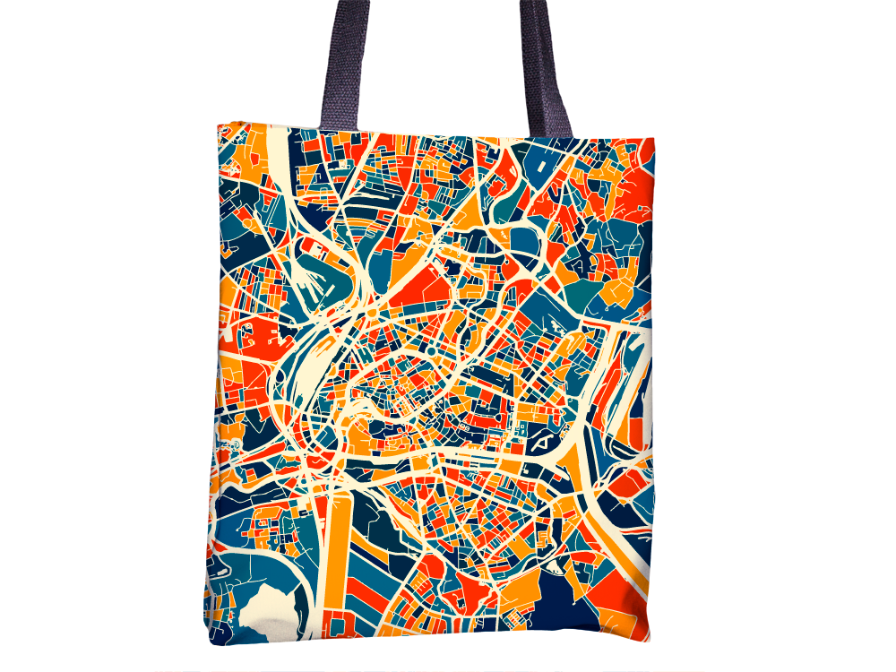 Strasbourg Map Tote Bag - Alsace Map Tote Bag 15x15