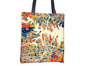 Sydney Map Tote Bag - Nsw Map Tote Bag 15x15