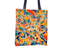 Leeds Map Tote Bag - Yorkshire Map Tote Bag 15x15