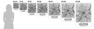 Houston Map Poster - usa Map Print - Art Deco Series